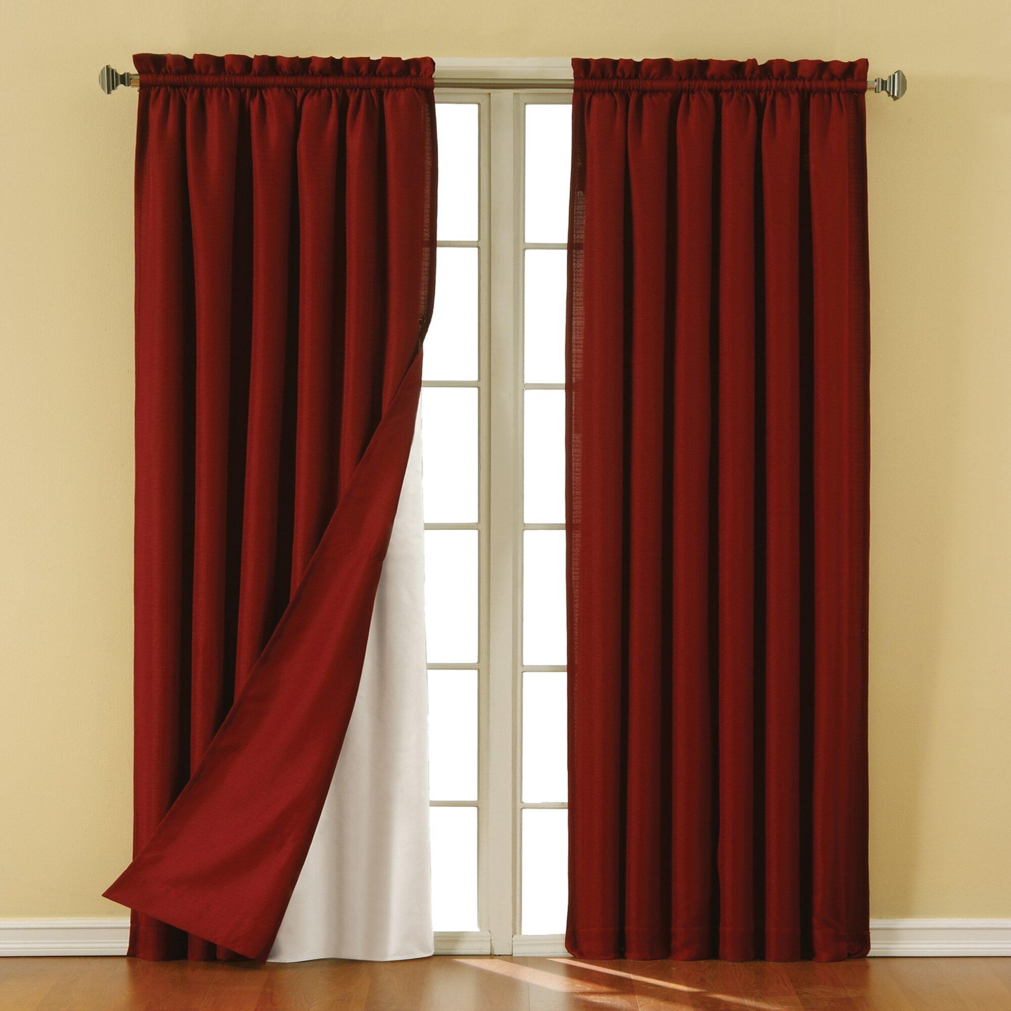 eclipse curtains rod pocket blackout curtain panels liner