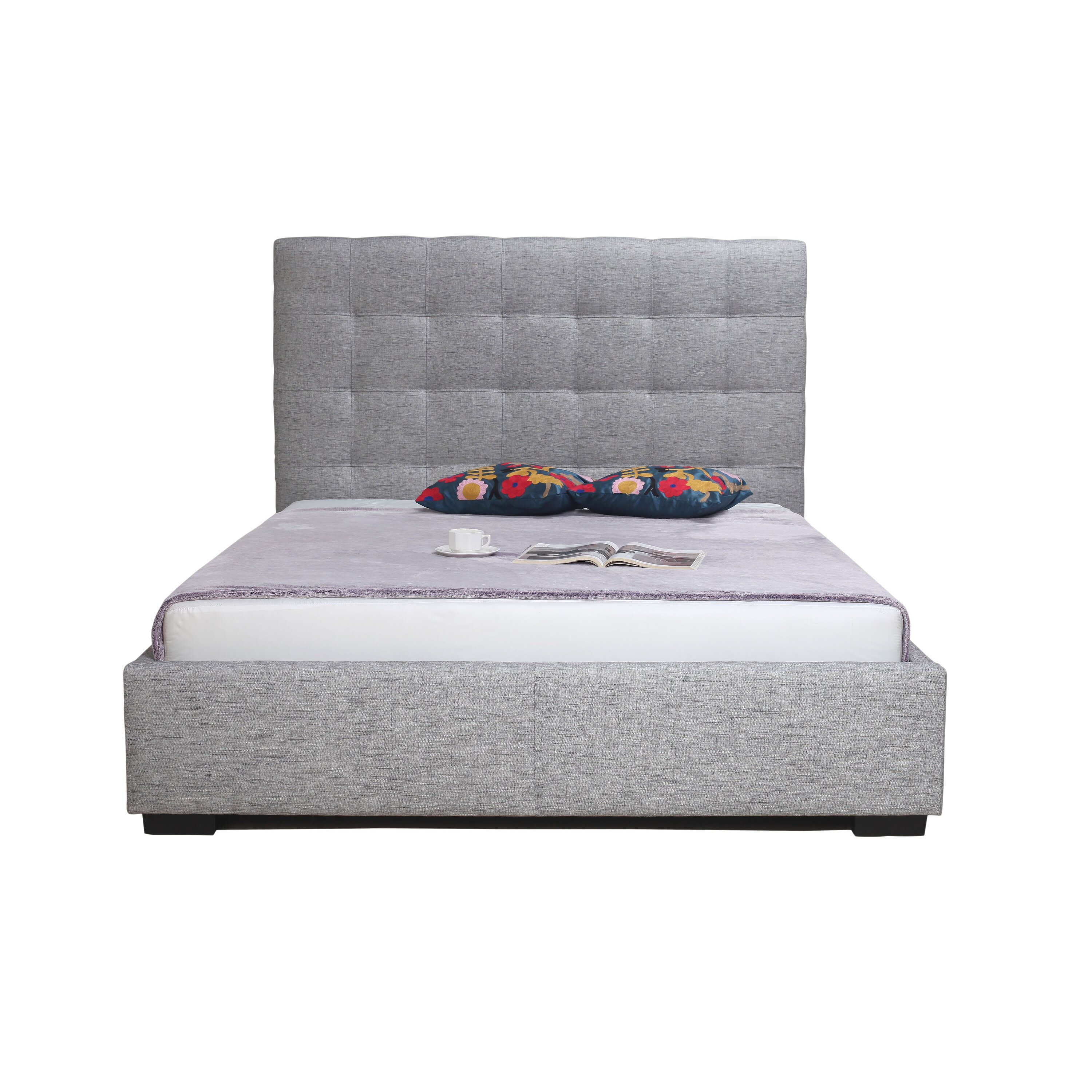 moes home collection upholstered storage platform bed