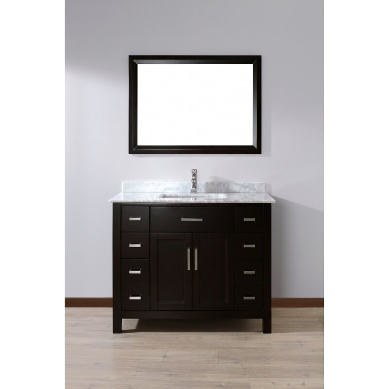 "Bauhaus Bath Celize 42"" Single Bathroom Vanity Set with"