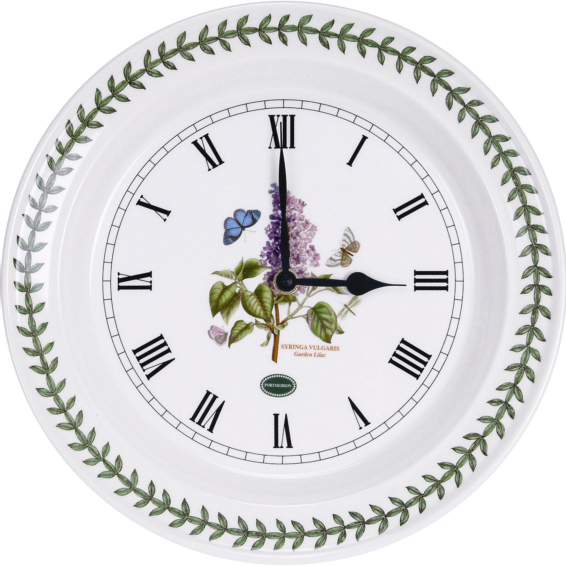 "portmeirion botanic garden 10"" kitchen wall clock & reviews | wayfair"