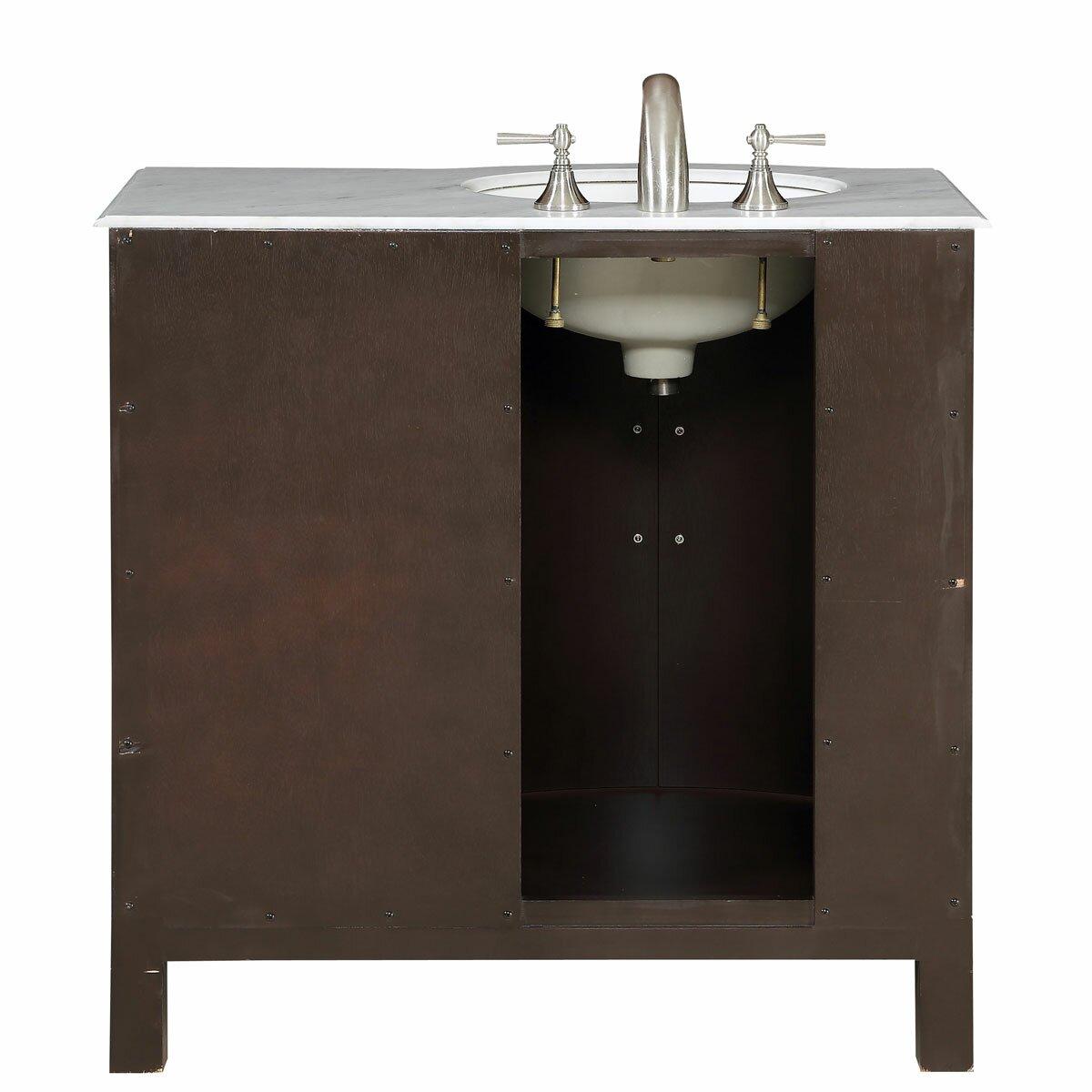Silkroad Exclusive Kimberly 36 Single Bathroom Vanity Set Reviews Wayfair