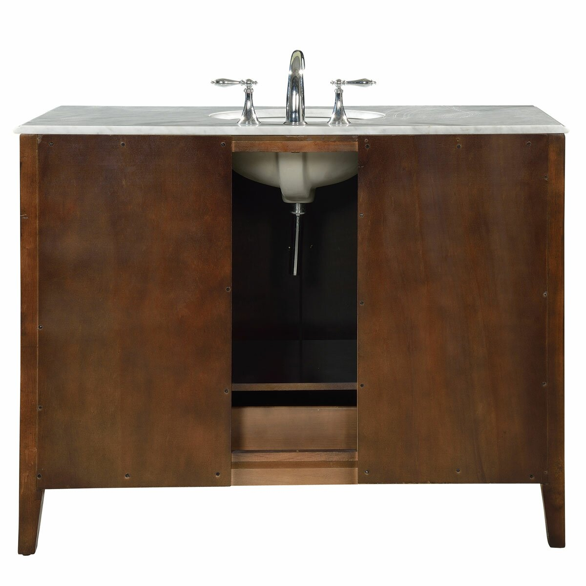 Bathroom single sink cabinets - Silkroad Exclusive 48 Quot Single Sink Cabinet Bathroom Vanity Set