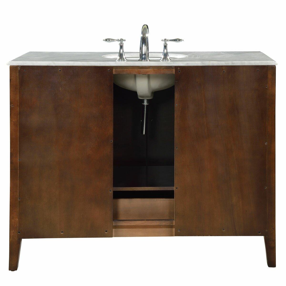 Bathroom single sink cabinets - Silkroad Exclusive 48 Quot Single Sink Cabinet Bathroom Vanity Set