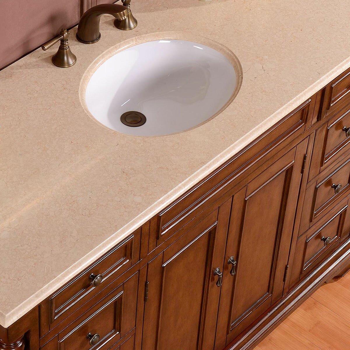 Silkroad Exclusive 58 Single Sink Cabinet Bathroom Vanity Set – 58 Bathroom Vanity