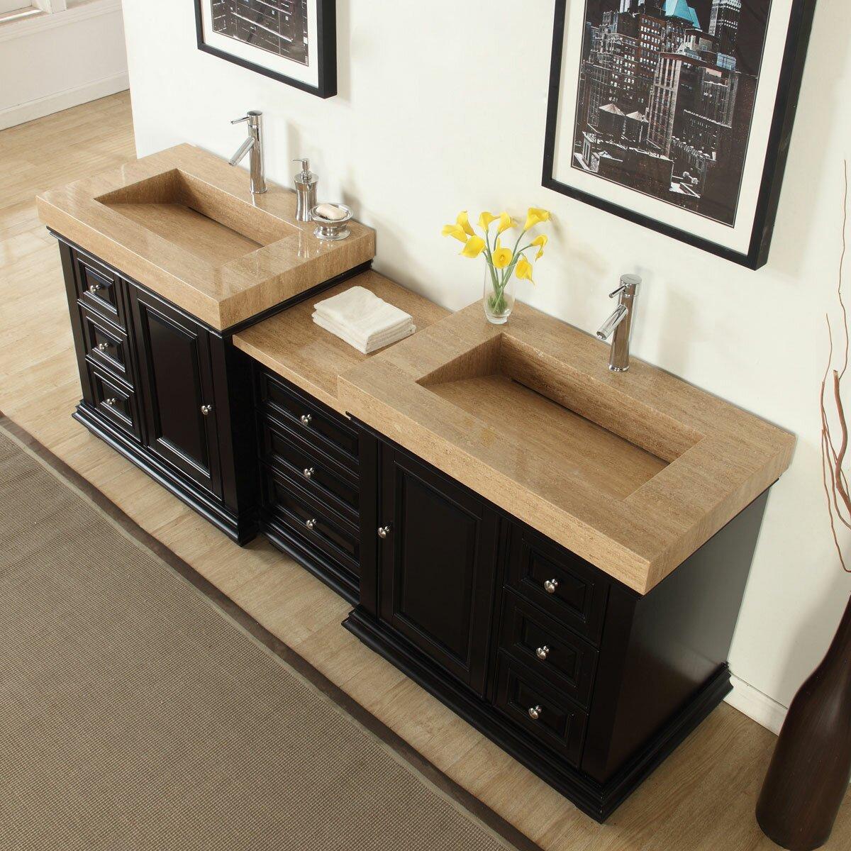 90 Bathroom Vanity Silkroad Exclusive 90 Double Sink Modern Bathroom Vanity Set