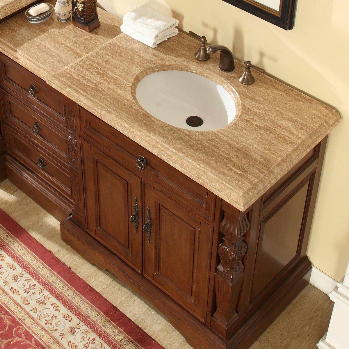 Silkroad Exclusive 55 5 Single Sink Bathroom Modular Vanity Set Reviews