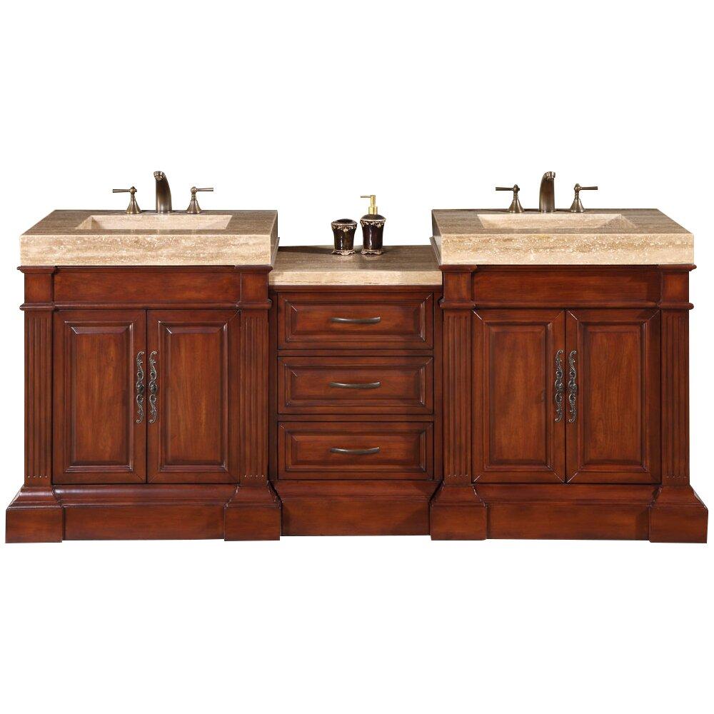 Silkroad exclusive stanton 83 double bathroom vanity set reviews wayfair for Silkroad bathroom vanity reviews