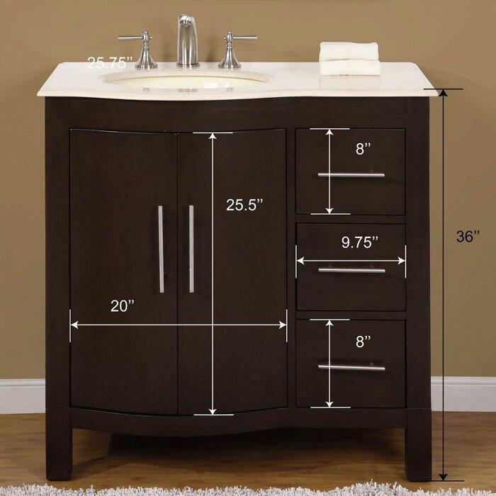 Silkroad exclusive kimberly 36 single bathroom vanity set reviews wayfair for Silkroad bathroom vanity reviews
