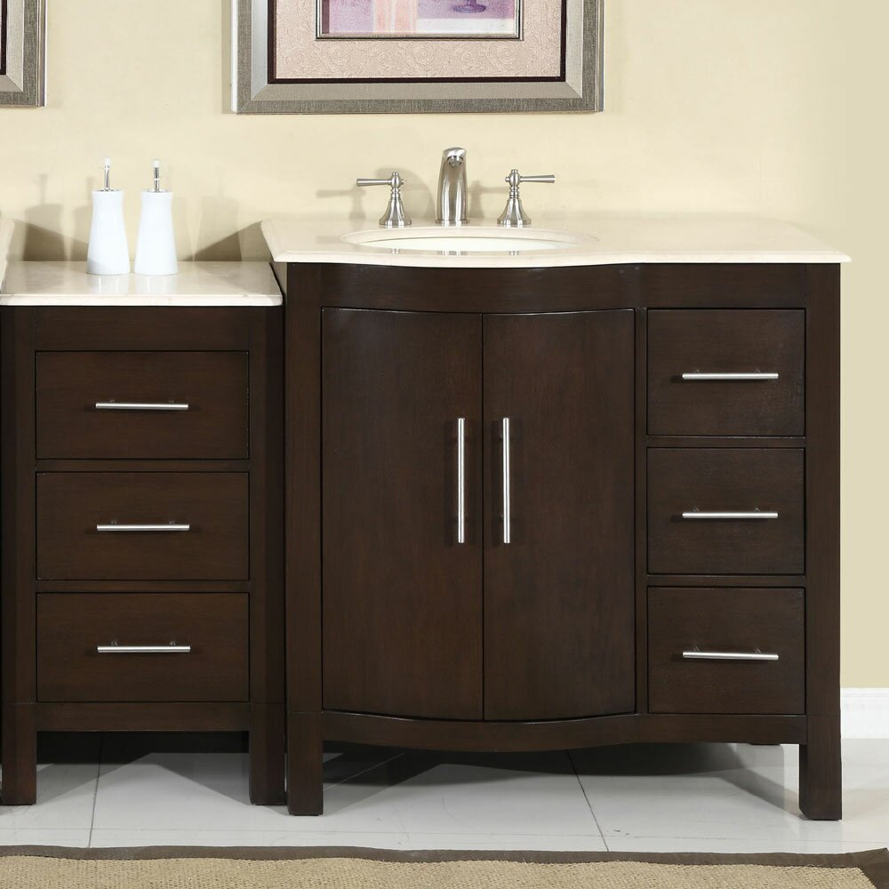 Bathroom single vanity - Silkroad Exclusive Kimberly 54 Quot Single Bathroom Vanity Set