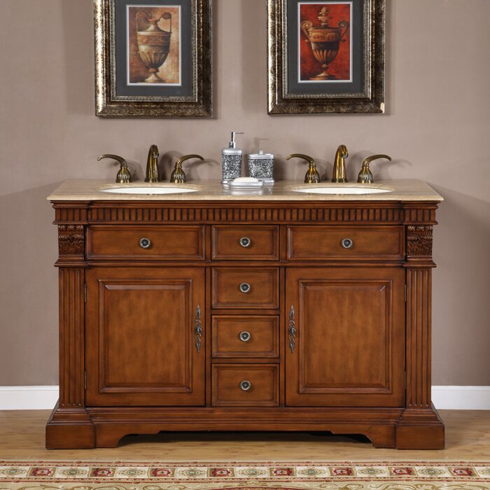Elegant  Oak Wall Mount Modern Bathroom Vanity U2502 The Vanity Store Canada