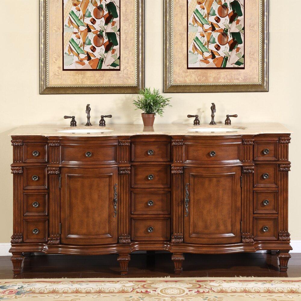 """silkroad exclusive blair """" double bathroom vanity set  reviews, Bathroom decor"""