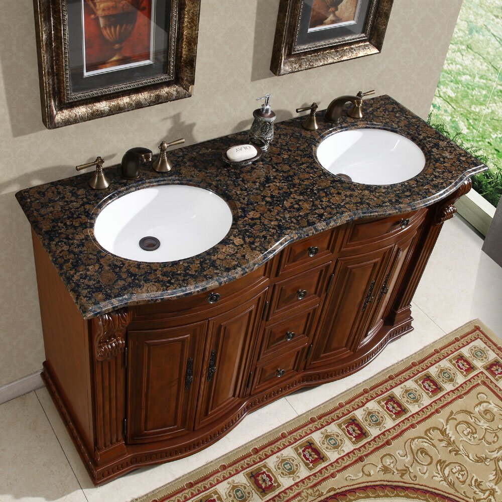 Great Spa Inspired Small Bathrooms Huge Kitchen And Bath Tile Flooring Regular Good Paint For Bathroom Ceiling Large Bathroom Wall Tiles Uk Young Bathroom Faucets Lowes SoftHome Depot Bath Renovation Silkroad Exclusive Monica 56\u0026quot; Double Bathroom Vanity Set \u0026amp; Reviews ..