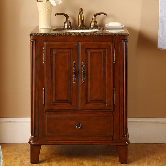 "Rustic Bathroom Vanity Set: Silkroad Exclusive Allegheny 28"" Single Bathroom Vanity"