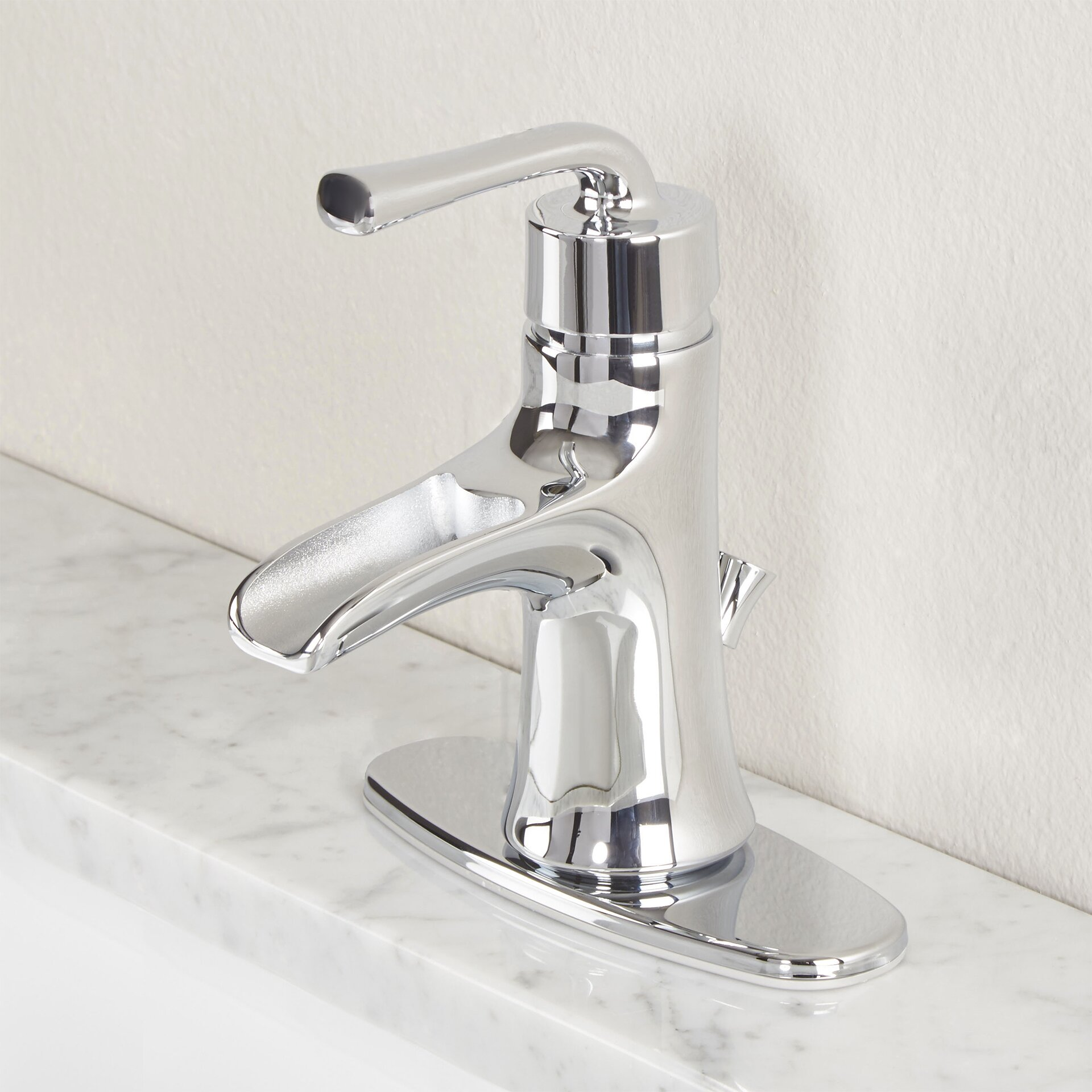 Premier faucet sanibel single handle bathroom faucet for Single hole bathroom faucets