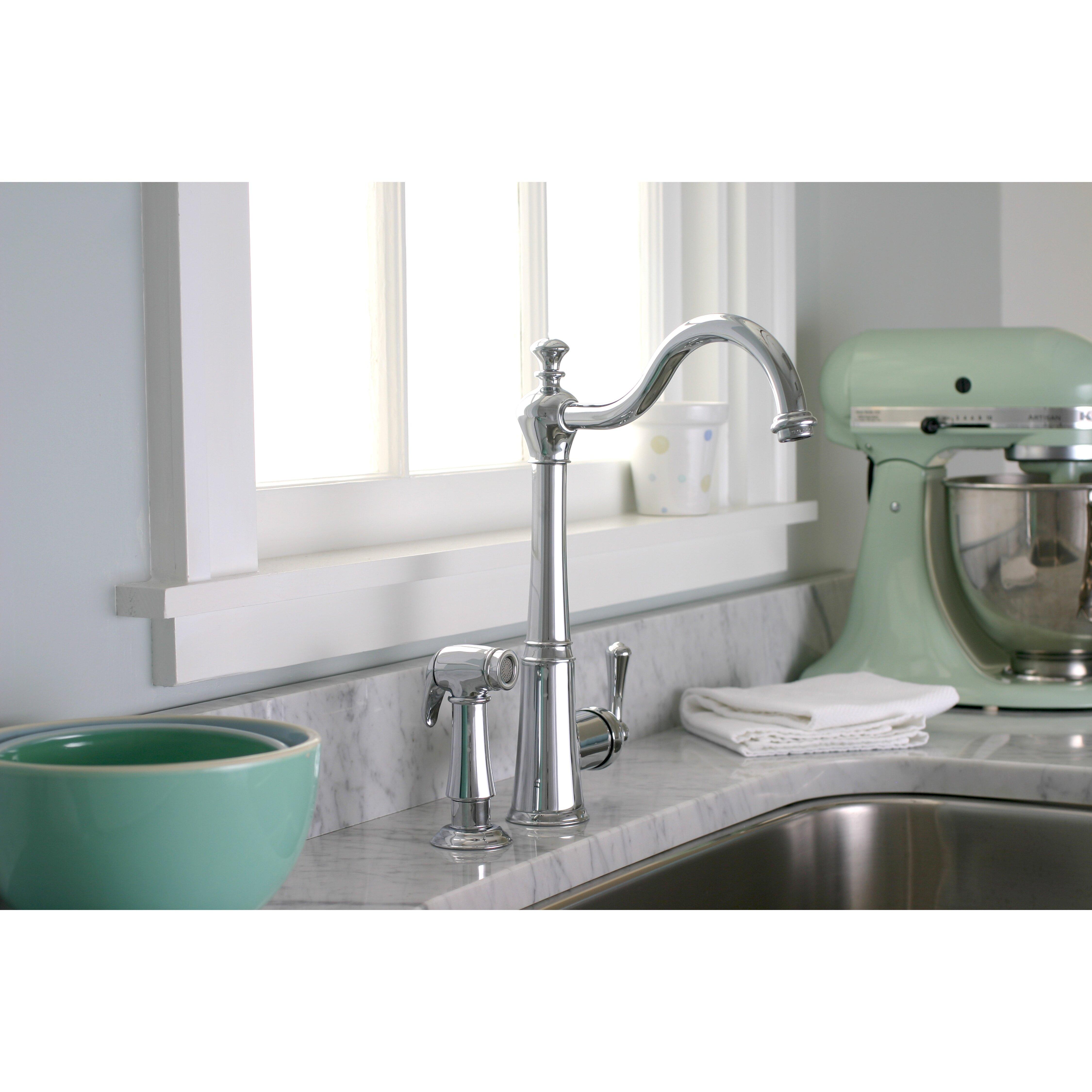 Premier Faucet Sonoma One Handle Single Hole Kitchen Faucet With. Single Handle Kitchen Faucet With Side Spray   emmolo com