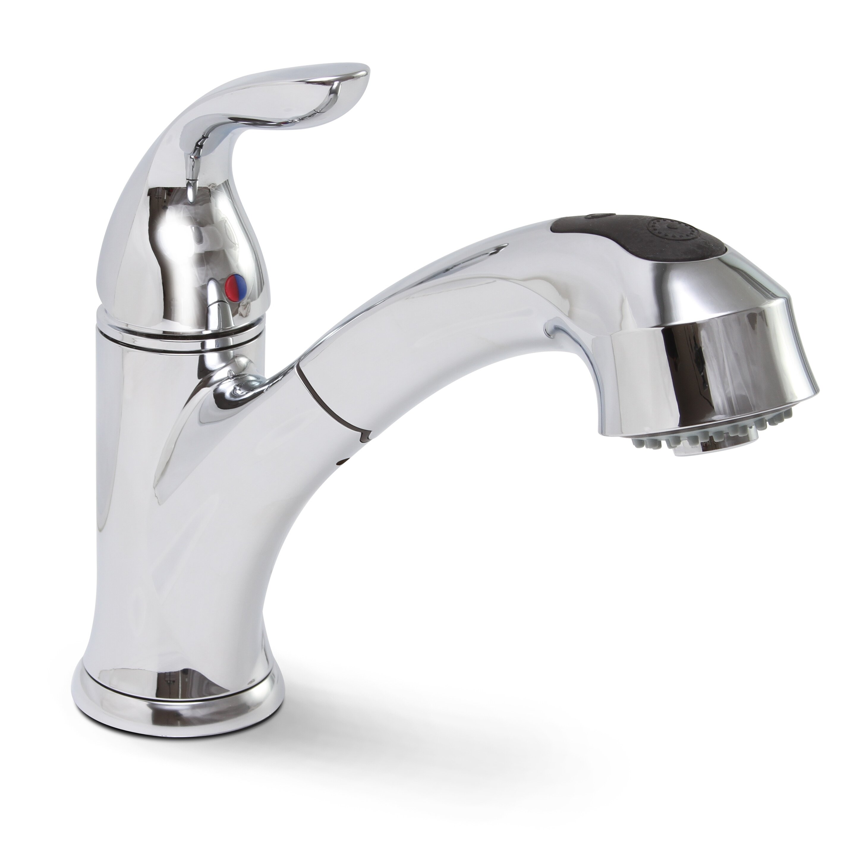 premier faucet waterfront single handle single hole brushed nickel kitchen sink faucet pull out spray with