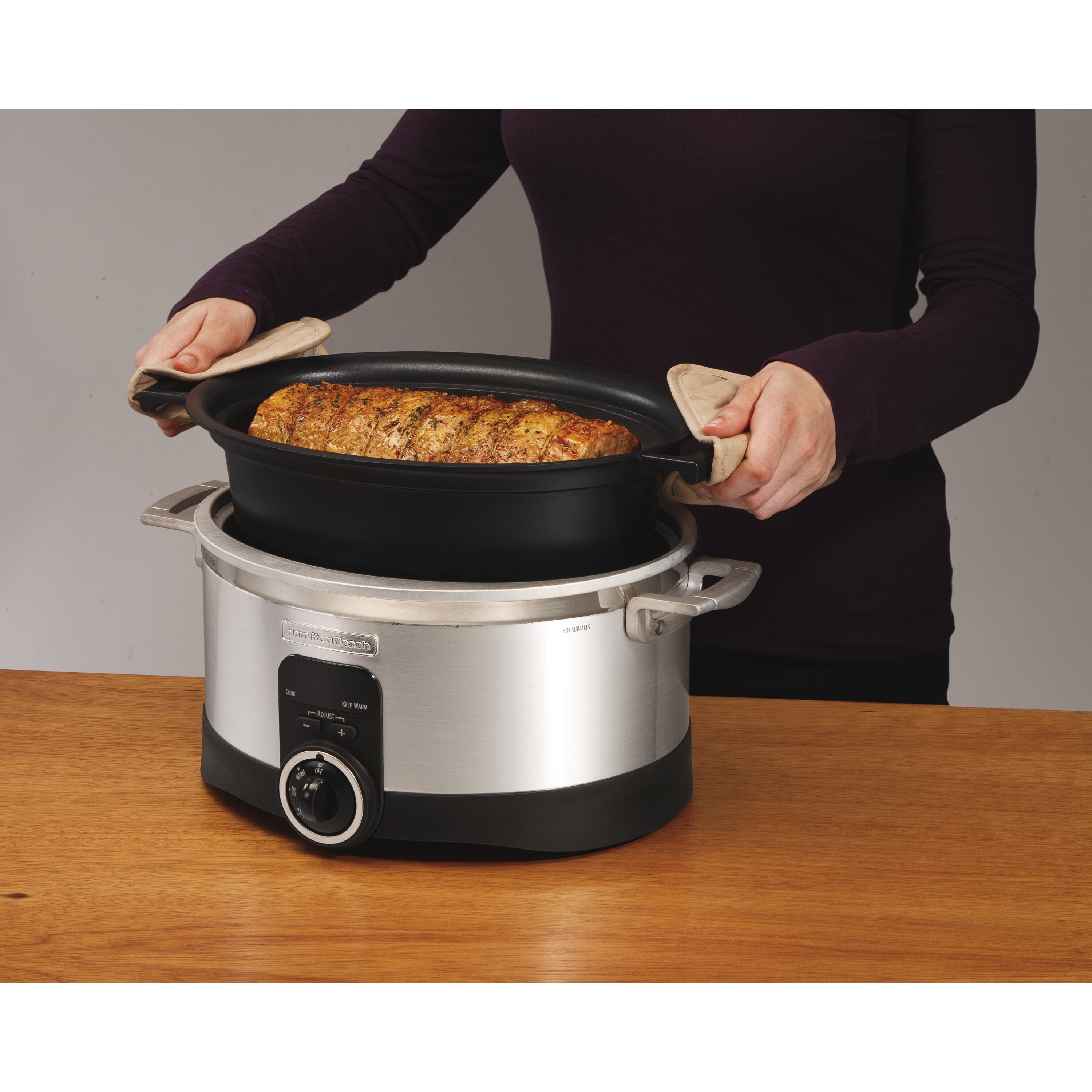 well wreapped kitchenaid ksc6223ss 6 qt slow cooker with standard