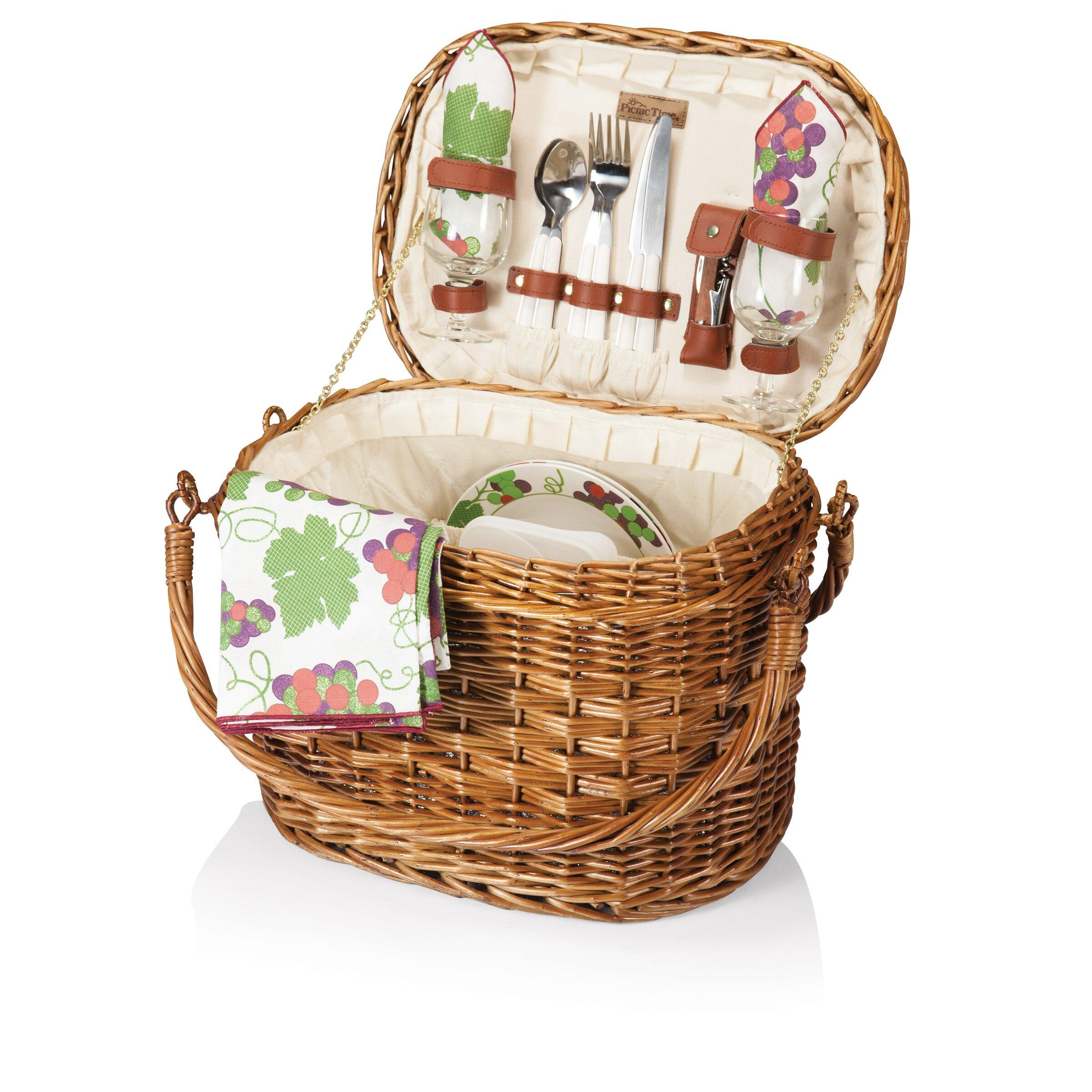 California King Size Bedroom Furniture Sets Picnic Time Romance Picnic Basket Amp Reviews Wayfair