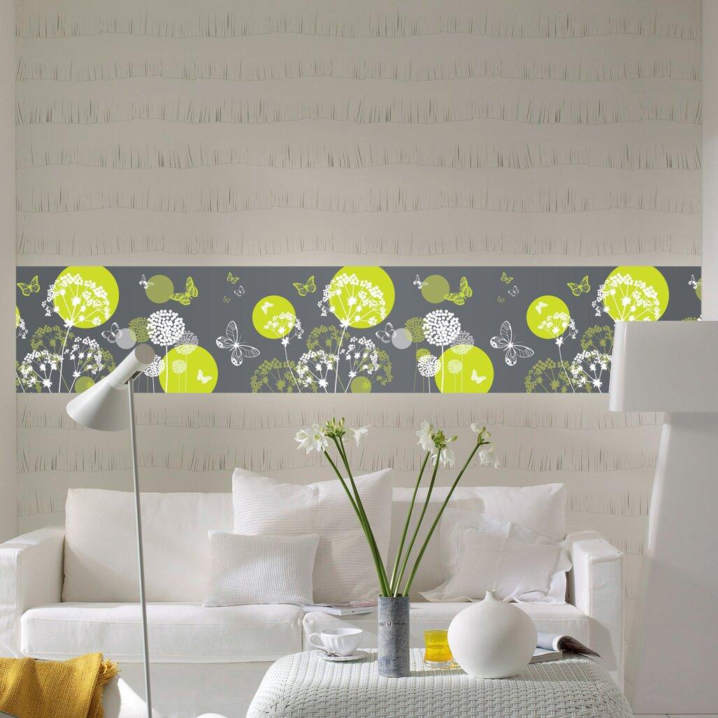 Brewster Home Fashions Euro Stripe World Of Butterflies