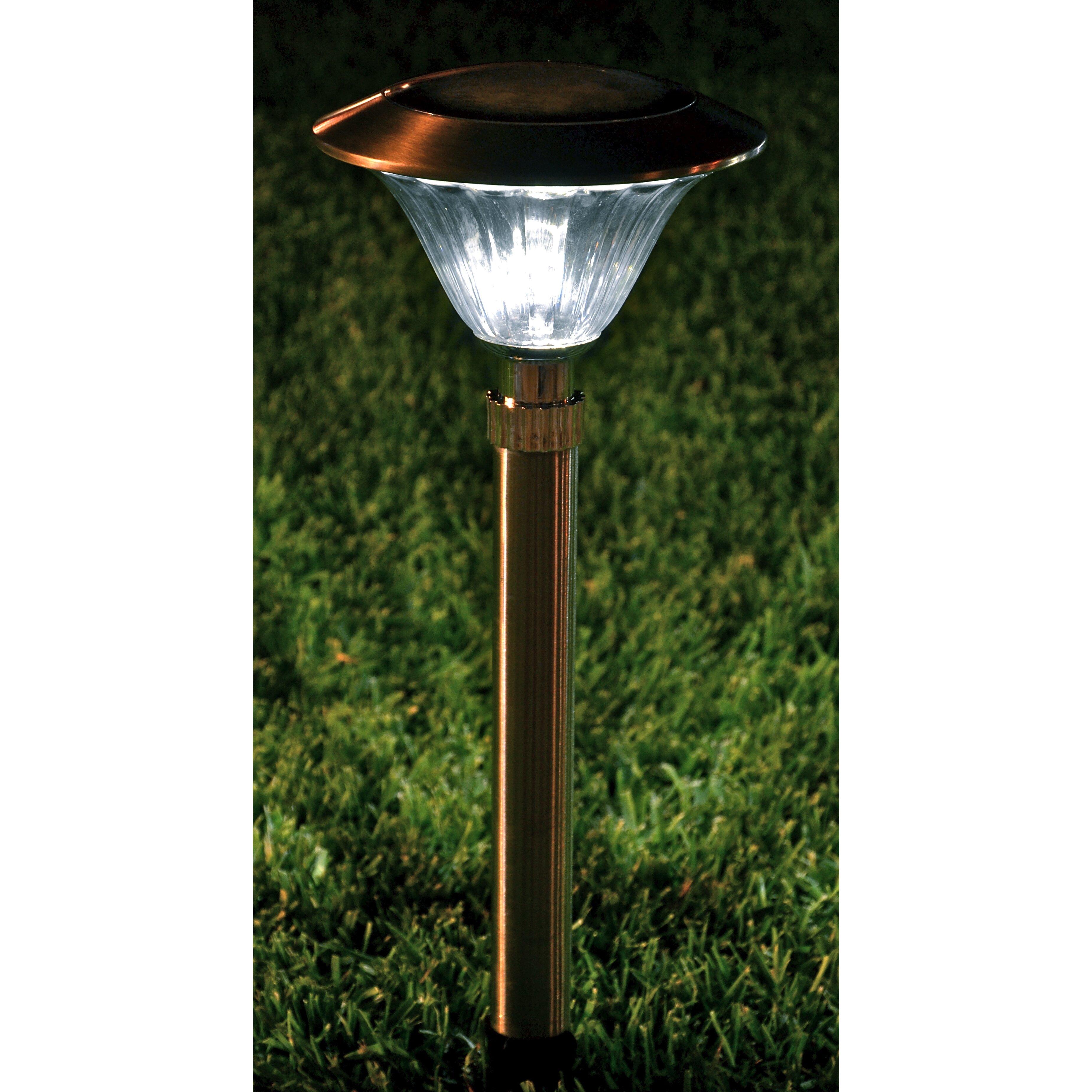 Solar power round recessed deck dock pathway garden led light ebay - Outdoor Led Light