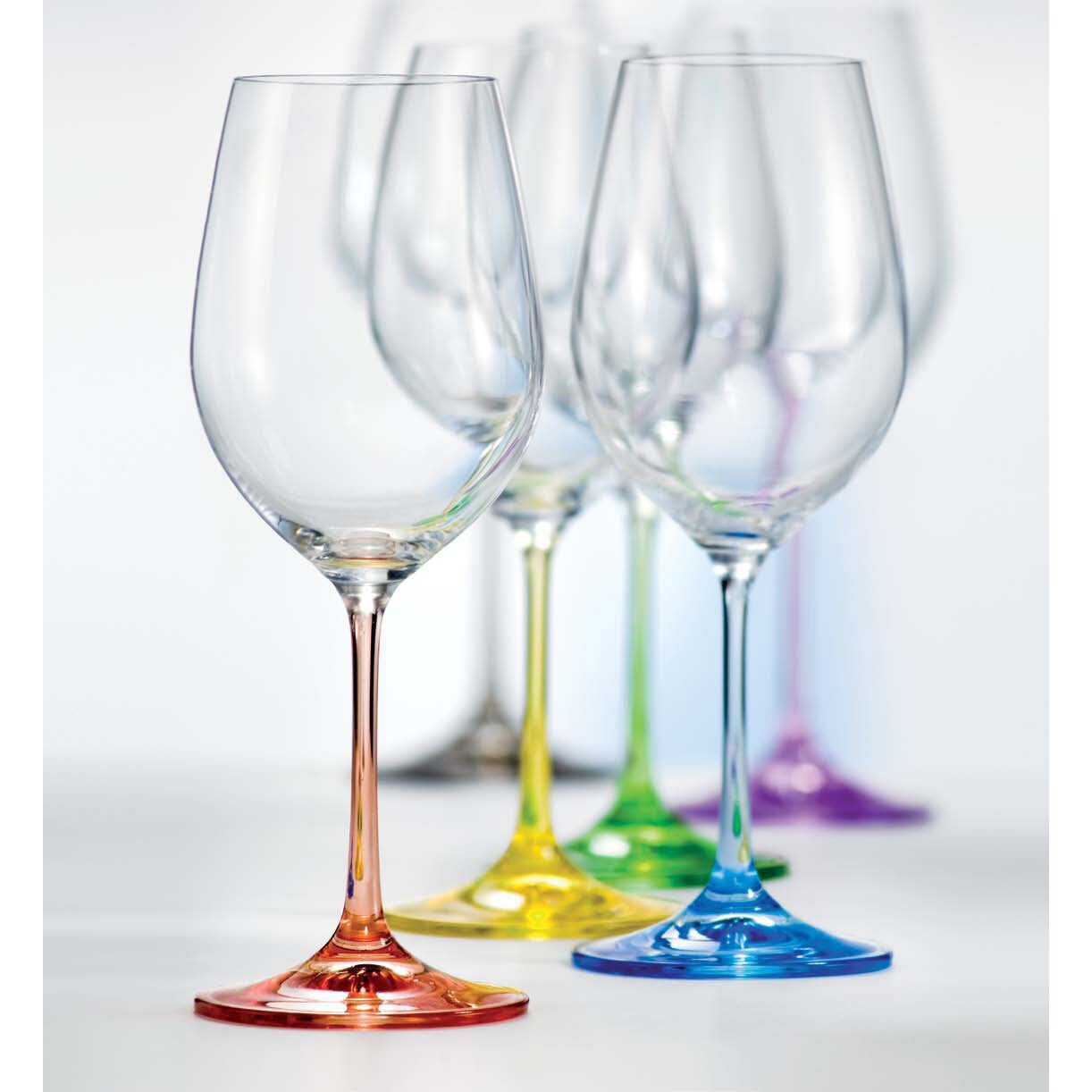 Ella Sabatini 6 Piece Rainbow 0 35l Wine Glass Set