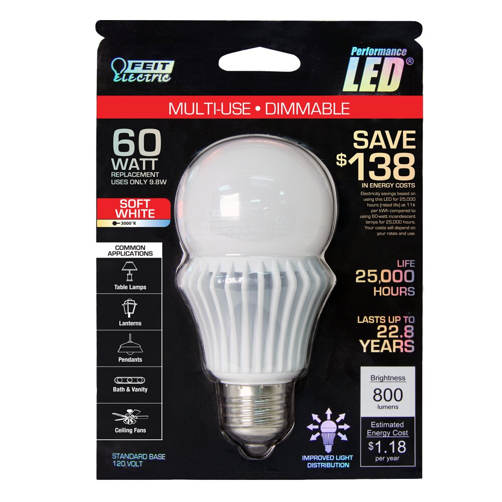 Feit Light Bulbs Review: FeitElectric 9.8W 120-Volt (3000K) LED Light Bulb,Lighting