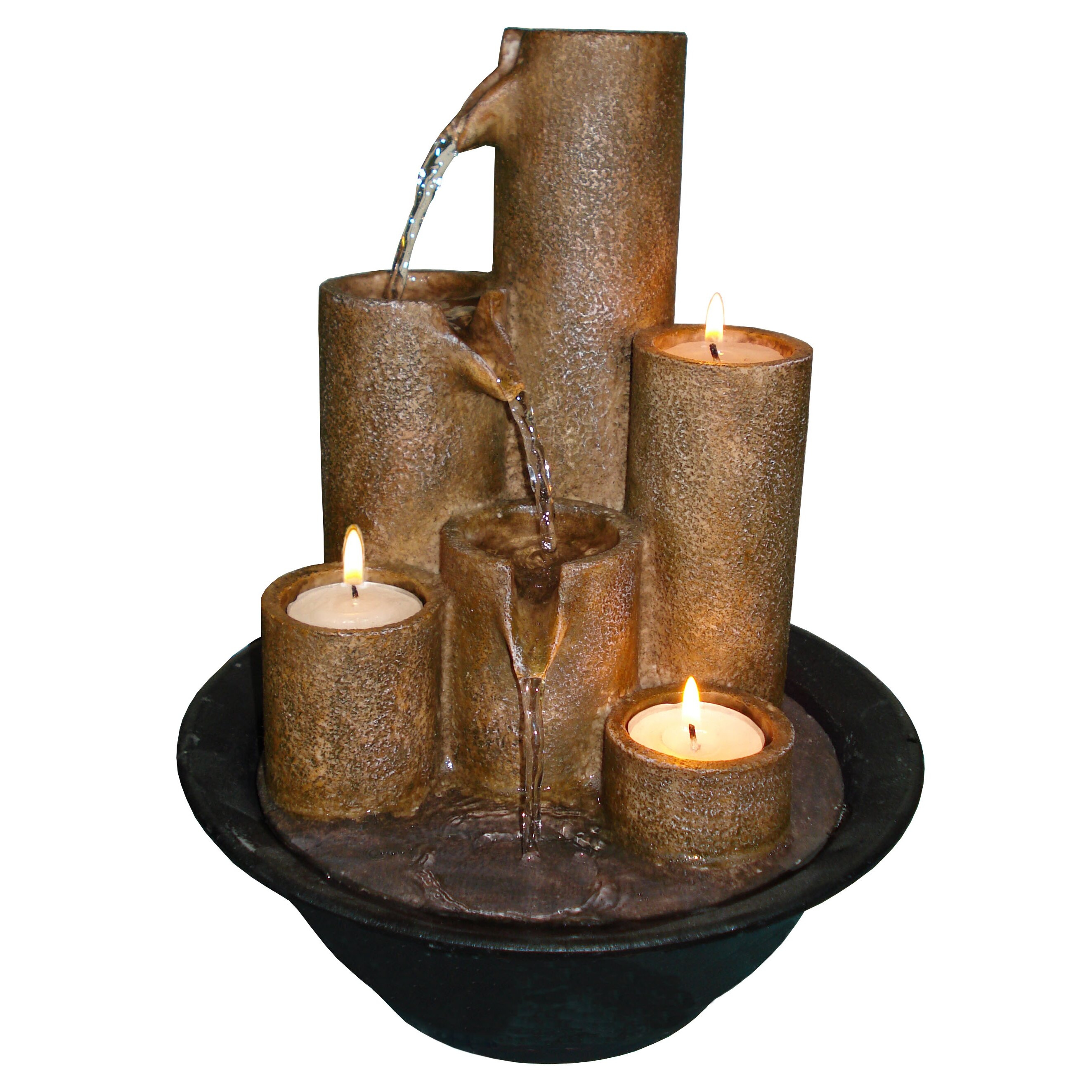 Water fountains calgary - Eternity Fiberglass 3 Candle Fountain