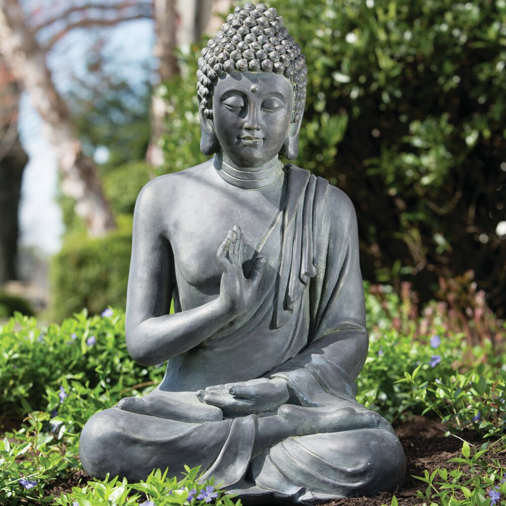 Alfresco Home Thai Buddha Garden Statue Reviews Wayfair