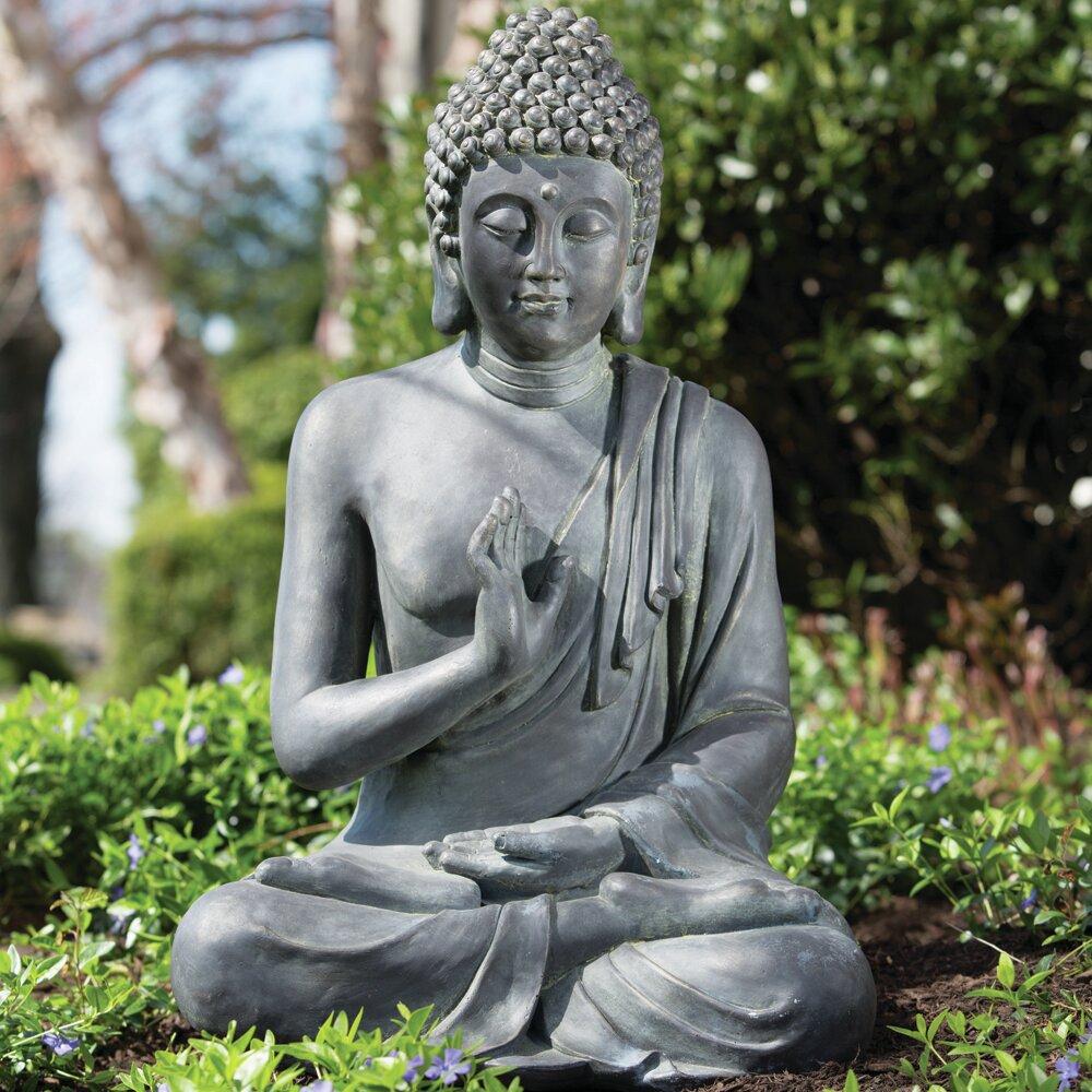 Alfresco Home Thai Buddha Garden Statue Reviews Wayfair