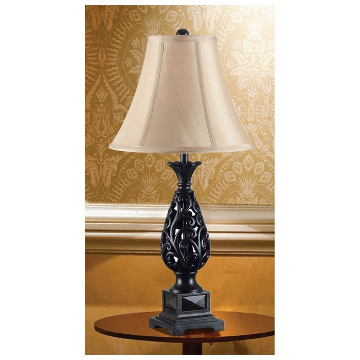kensington 3 piece table and floor lamp set reviews wayfair. Black Bedroom Furniture Sets. Home Design Ideas