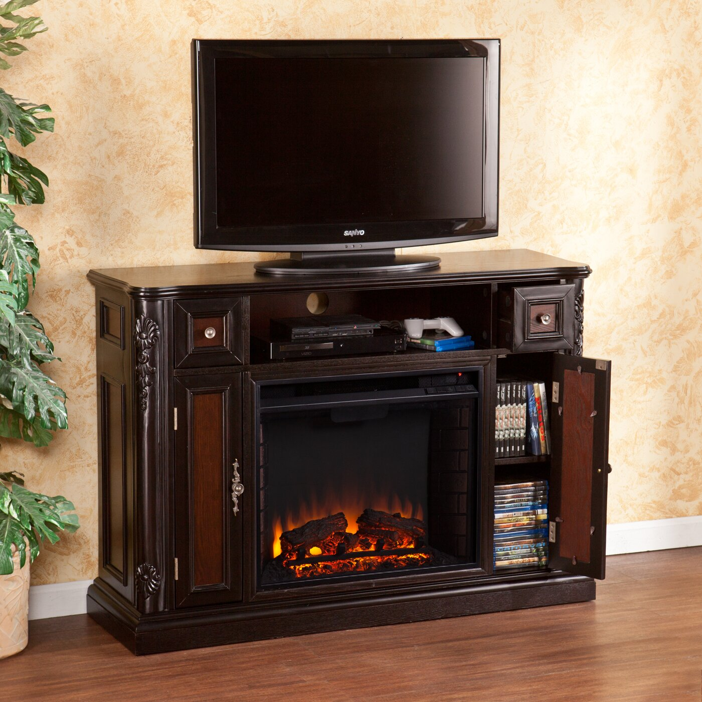 Wildon Home ® Gibbs TV Stand with Electric Fireplace - Wildon Home ® Gibbs TV Stand With Electric Fireplace & Reviews
