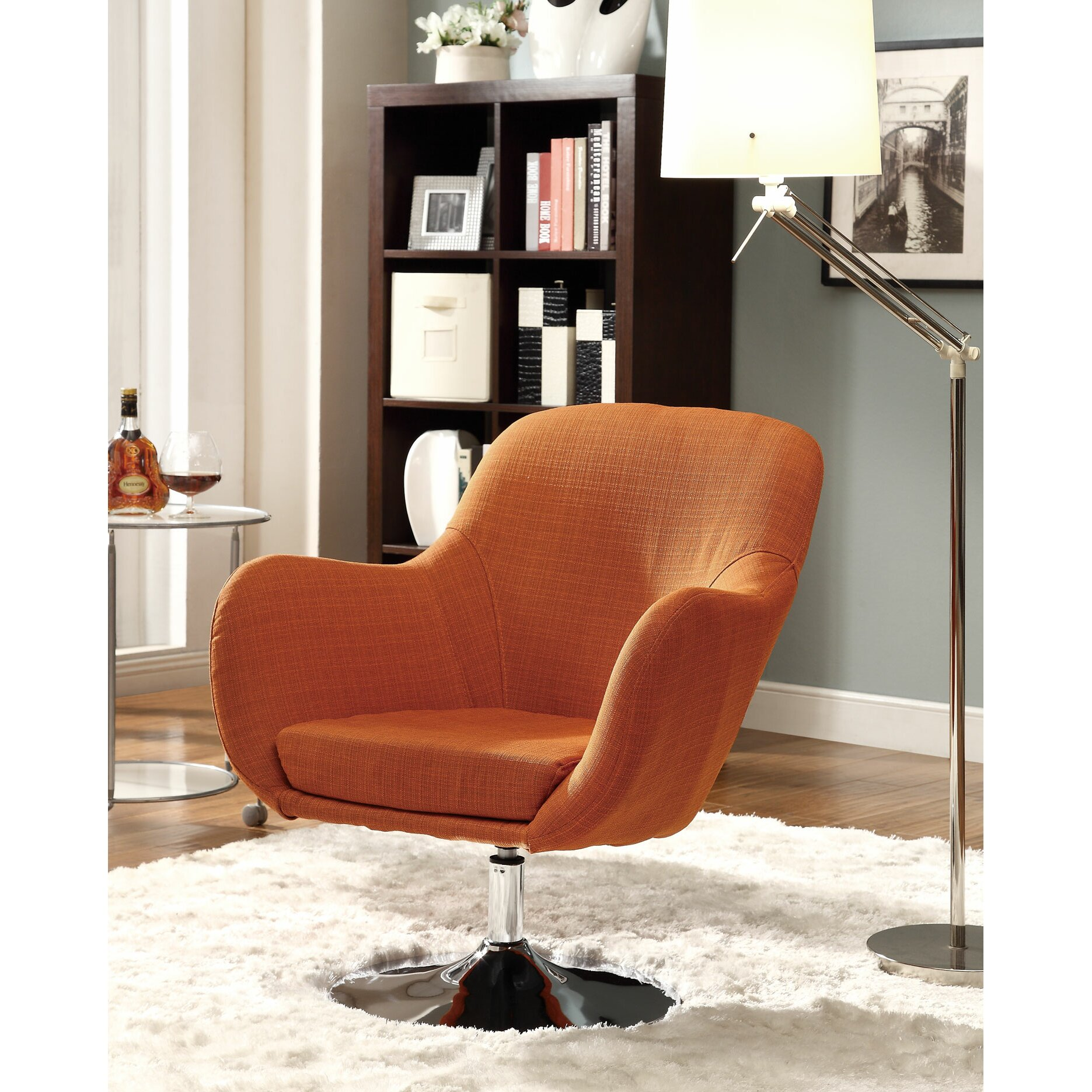 Orange Chairs Living Room Wildon Home Ar Lounge Chair In Orange Reviews Wayfair