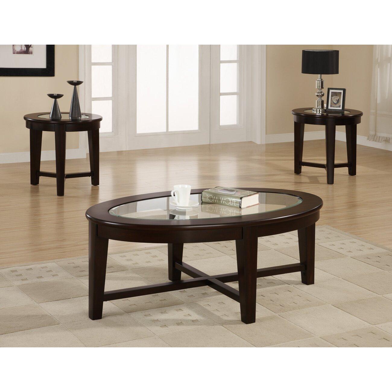 Three Piece Living Room Table Set Wildon Home Ar Amalga 3 Piece Coffee Table Set Reviews Wayfair