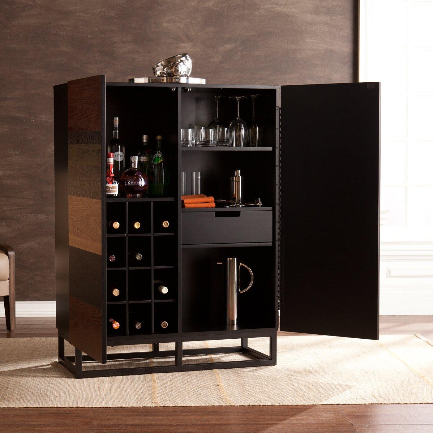 Wildon Home 174 Medlin Bar Cabinet Amp Reviews Wayfair