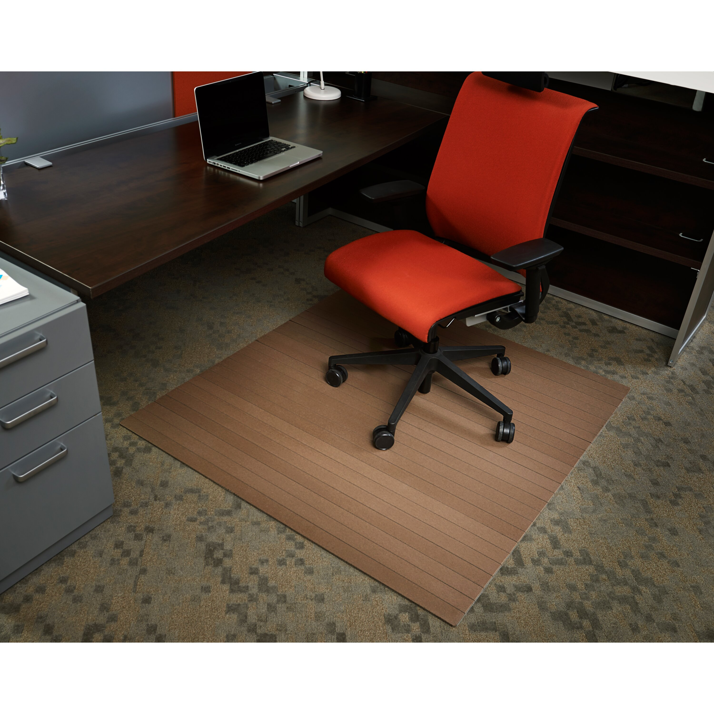 Low Pile Bamboo Composite Office Chair Mat Reviews Wayfair Supply