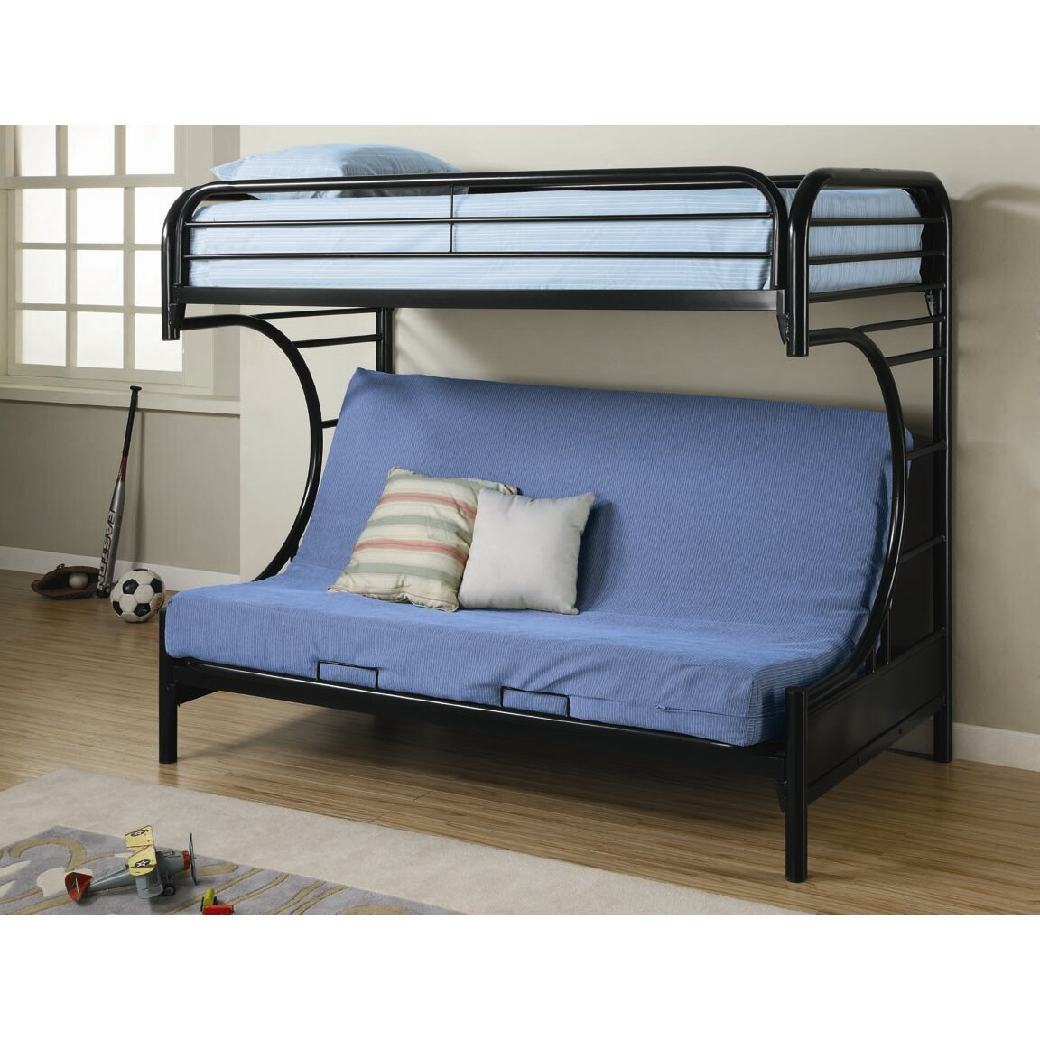 Washington twin over full bunk bed with trundle amp reviews wayfair - Wildon Home U0026reg Fall Creek Twin Over Full Futon Bunk Bed