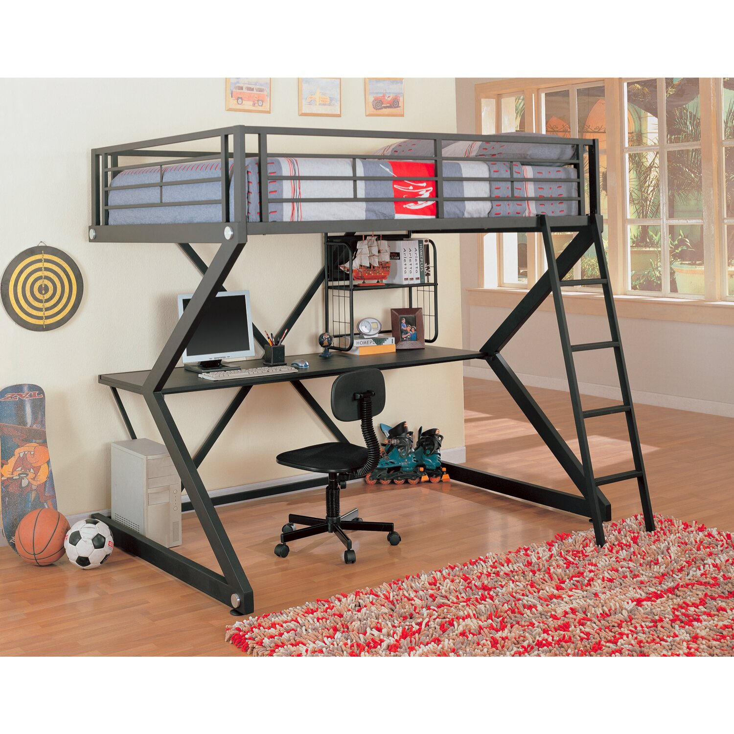 Bunk beds with desk and closet - Drew Loft Bed