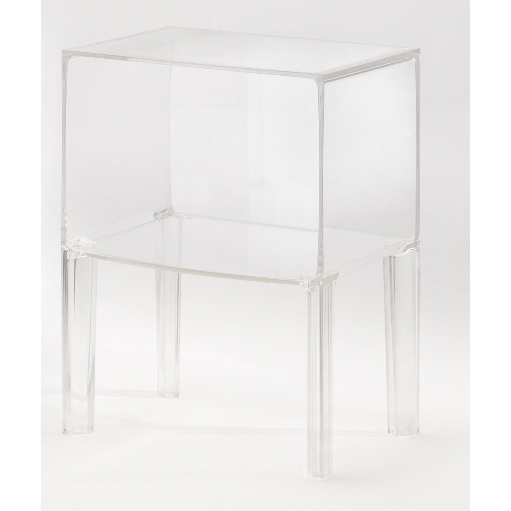 Kartell Round Table Ghost Nightstand Reviews Allmodern