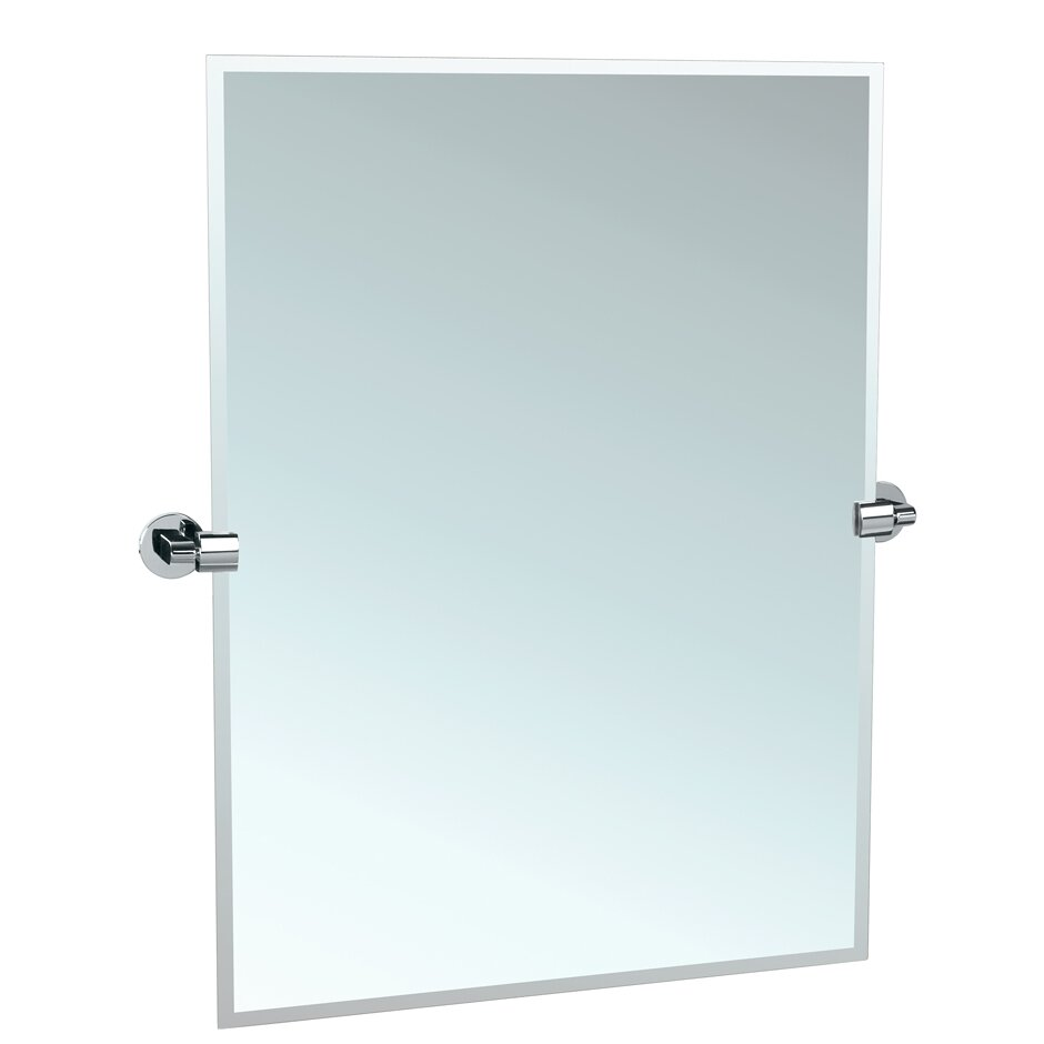 gatco zone rectangular mirror & reviews | wayfair