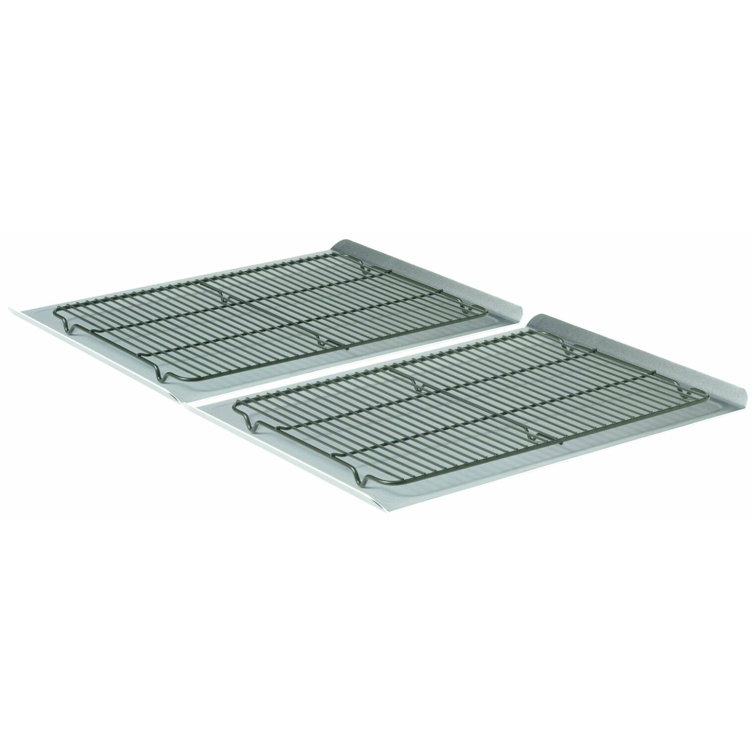 Non Stick Kitchen Appliances Calphalon 4 Piece 19 Non Stick Cookie Sheet And Cooling Rack Set