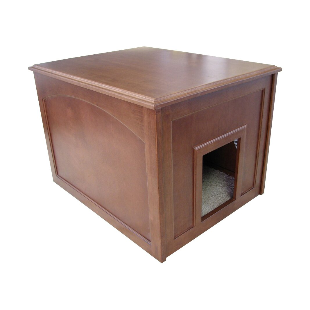 Wooden Litter Box Cabinets Crown Pet Products Cat Condo Litter Box Enclosure Reviews