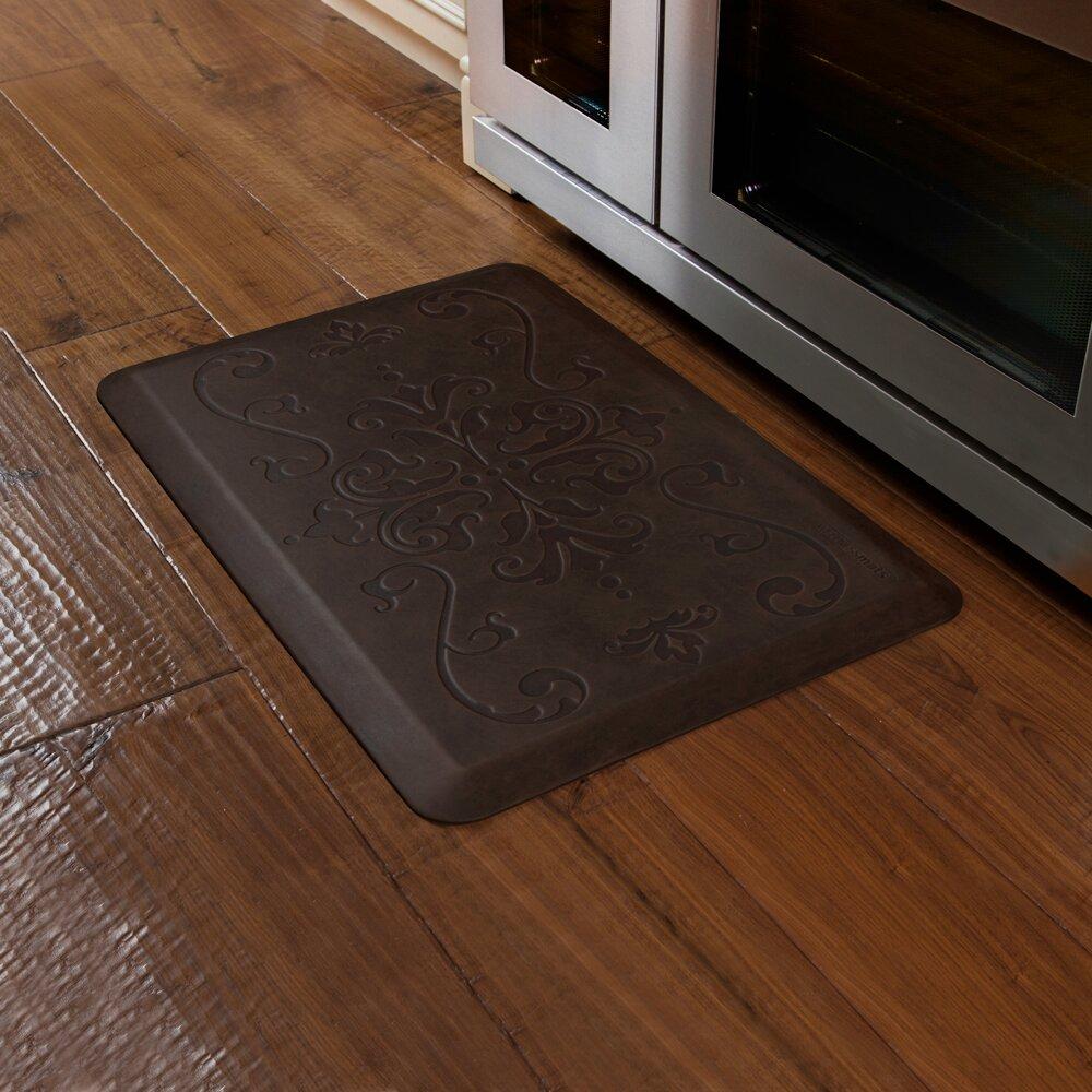 Kitchen Mats For Hardwood Floors Wellnessmats Motif Entwine Antique Kitchen Mat Reviews Wayfair