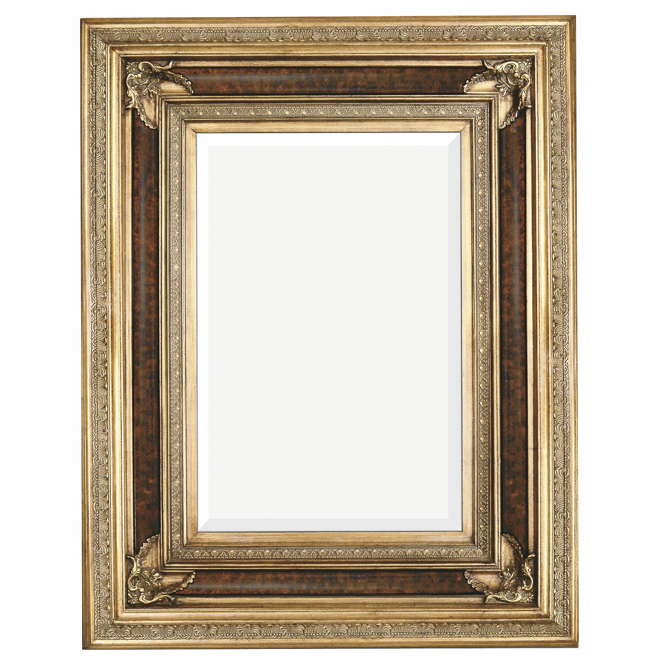 majestic mirror rectangular antique wood framed traditional glass wall mirror