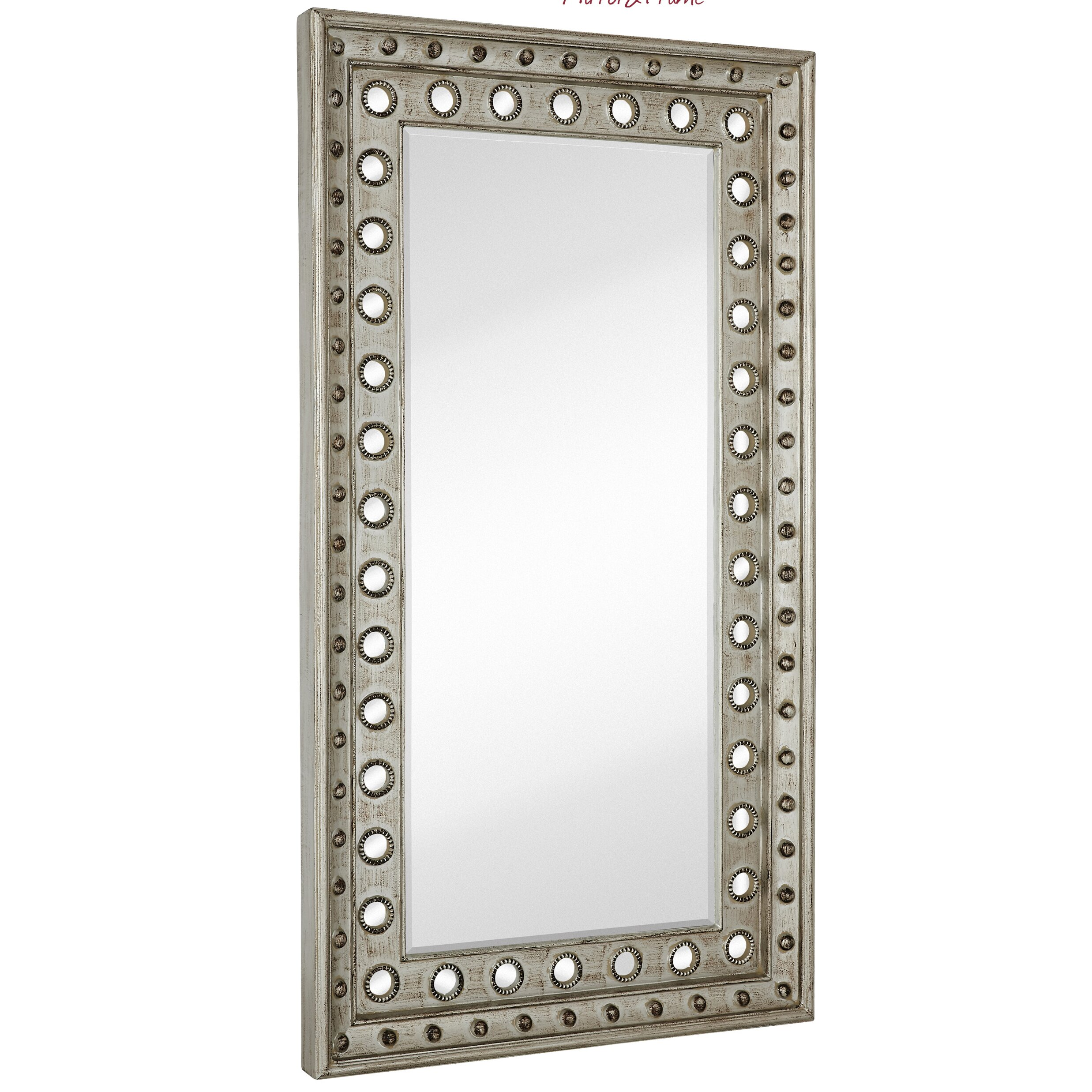 Silver Leaf Decoration Majestic Mirror Huge Rectangular Silver Leaf With Black Rub