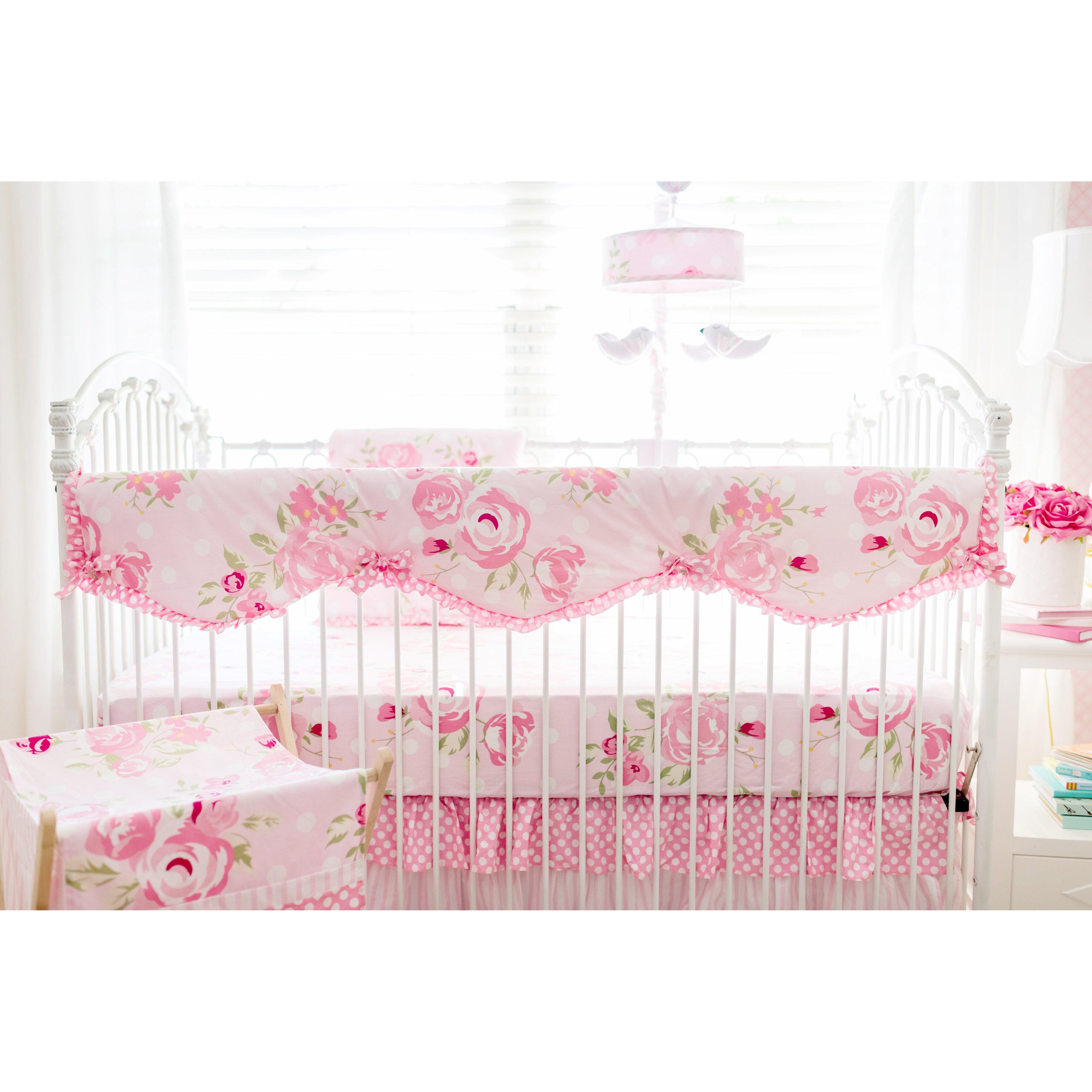 Crib rail for sale - My Baby Sam Rosebud Lane Crib Rail Cover