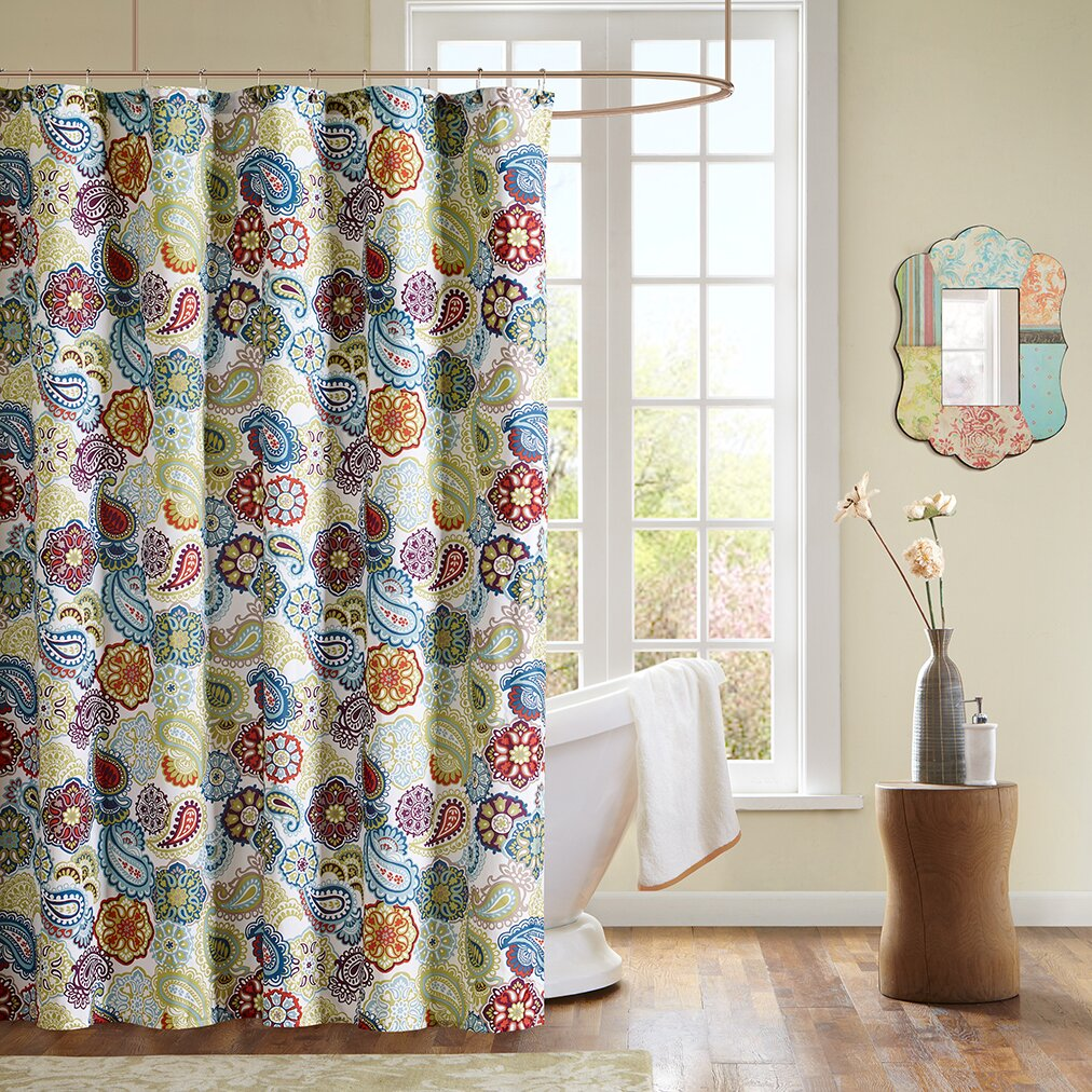 MiZone Tamil Shower Curtain  Reviews Wayfair - Shower curtain