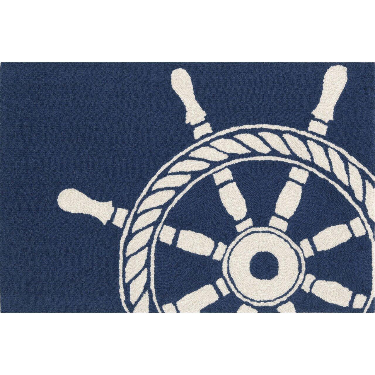 Pirate Rug Next: Liora Manne Frontporch Ship Wheel Navy Indoor/Outdoor Area