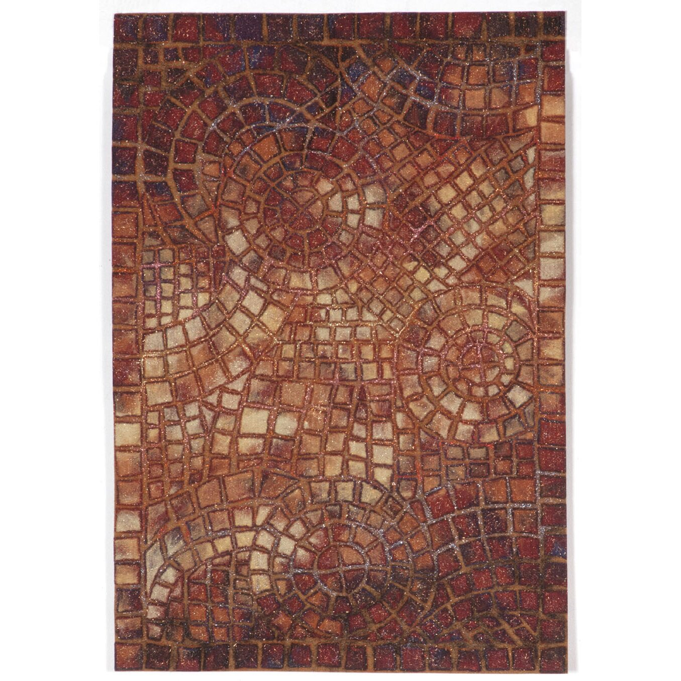 World Menagerie Bowey Arch Tile Red Indoor Outdoor Area