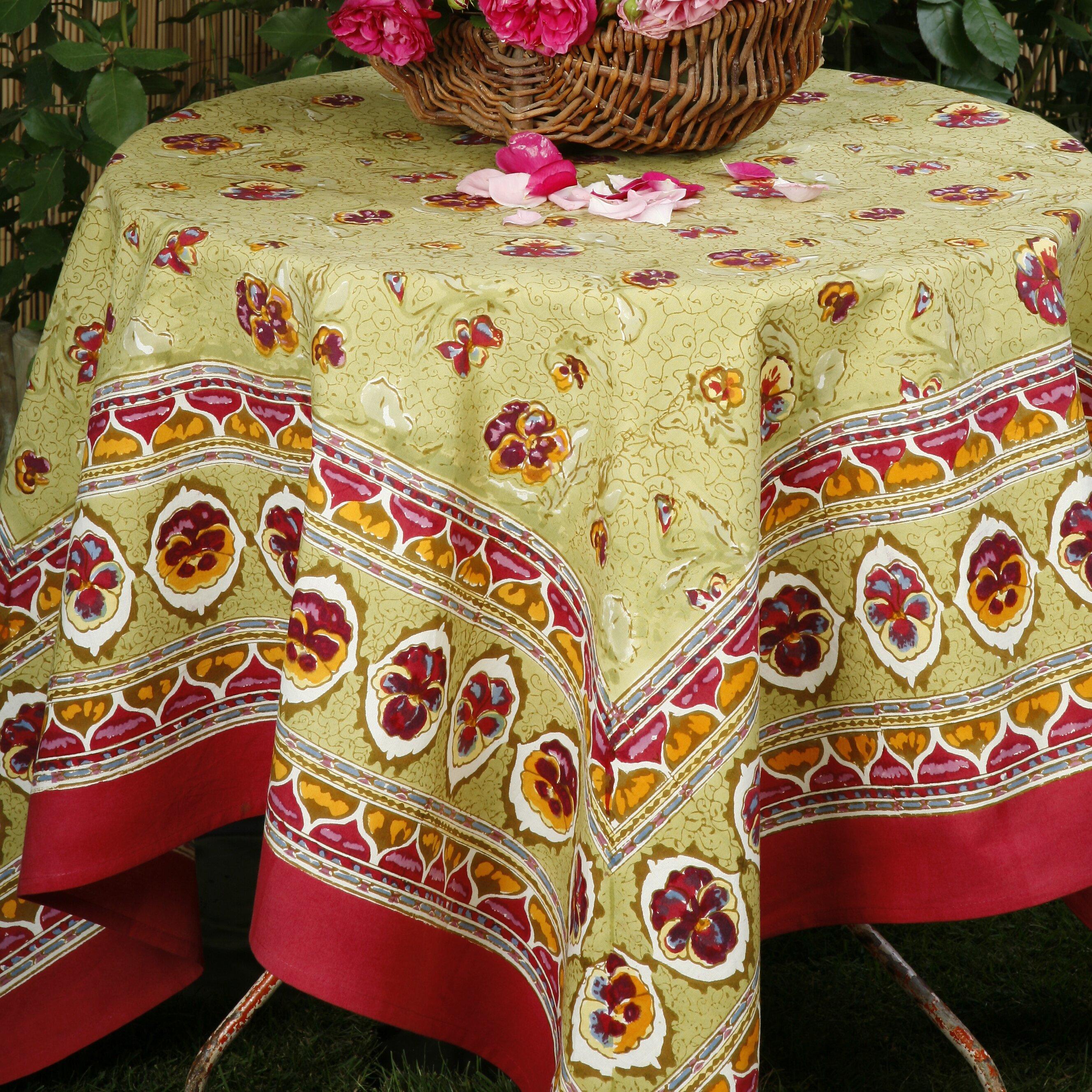 couleur nature pansy tablecloth reviews wayfair. Black Bedroom Furniture Sets. Home Design Ideas