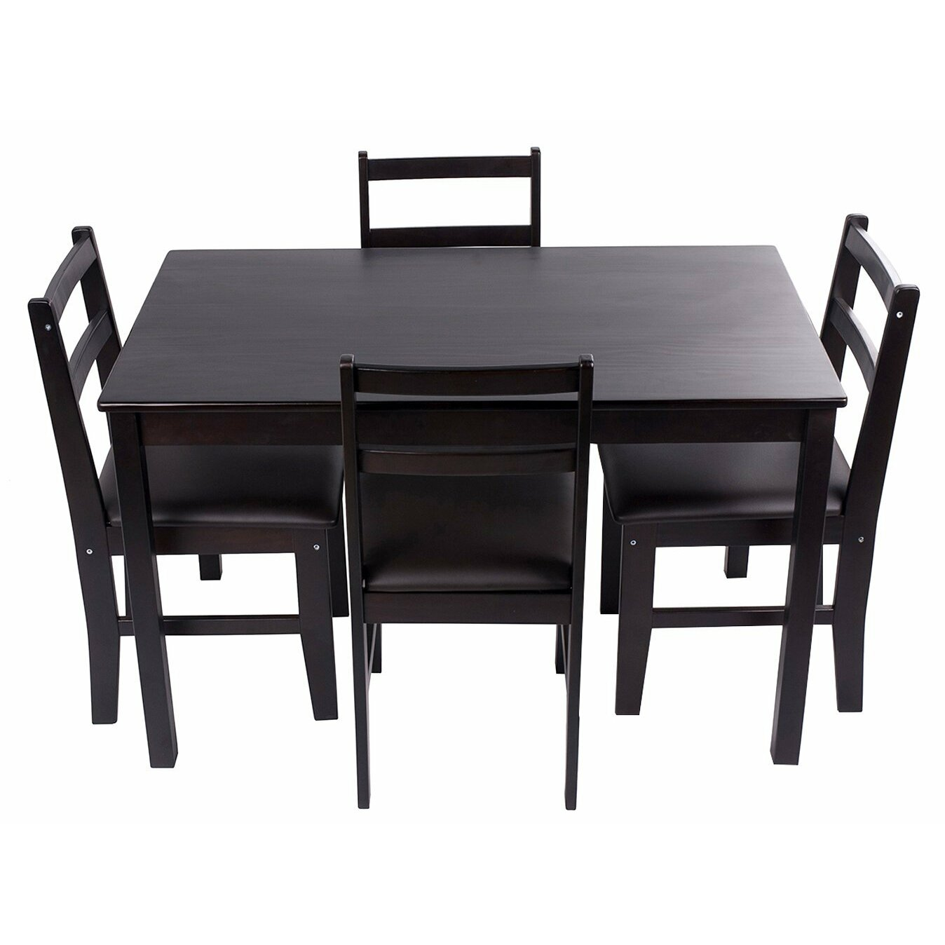 merax merax stylish 5 piece solid wood dining set reviews. Black Bedroom Furniture Sets. Home Design Ideas